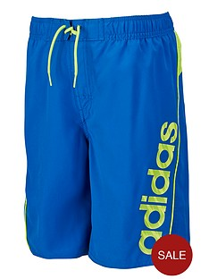 adidas-youth-boys-linear-swim-shorts