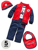 Baby Boy 5-Piece Tracksuit, T-shirt, Hat and Bib Gift Set