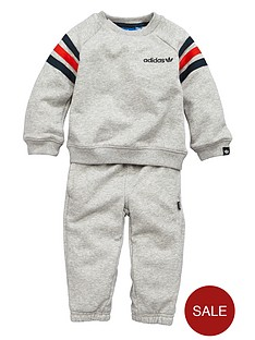 adidas-originals-baby-boy-3-stripe-crew-sweat-suit