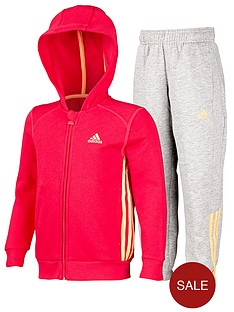 adidas-little-kids-hojo-fleece-suit-redgrey