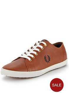fred-perry-kingston-lux-leather-mens-plimsolls