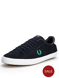 fred-perry-howells-suede-plimsolls-navy