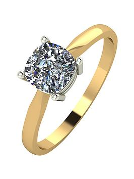 moissanite-18-carat-yellow-gold-100pt-equivalent-cushion-cut-ring