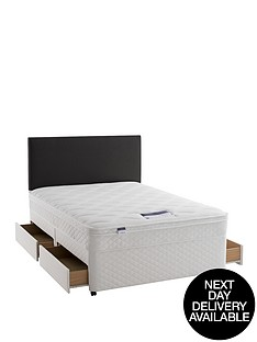 silentnight-miracoil-3-supreme-scroll-divan-with-optional-next-day-delivery