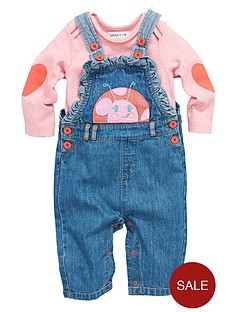 ladybird-baby-girls-2-piece-denim-frill-dungarees-and-t-shirt-set