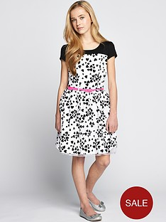 freespirit-girls-cap-sleeve-mono-heart-dress
