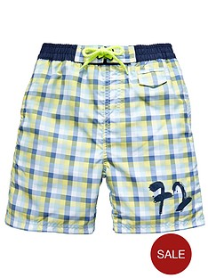 french-connection-check-shorts