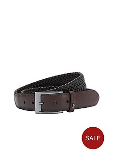 french-connection-woven-leather-belt