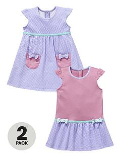 ladybird-baby-girls-spotty-dresses-2-pack