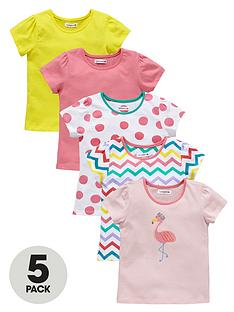 ladybird-girls-colour-and-print-t-shirts-5-pack-1-year-to-7-years