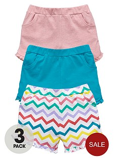 ladybird-girls-jersey-zigzag-and-colour-shorts-3-pack-1-year-to-7-years