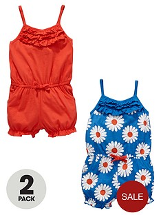 ladybird-girls-daisy-jersey-playsuits-2-pack