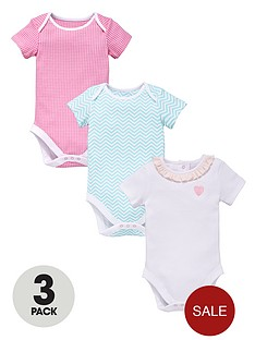 ladybird-girls-gingham-chevron-and-frill-bodysuits-3-pack