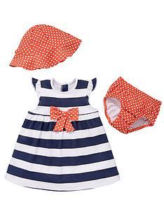 ladybird-baby-girls-stripe-and-spot-dress-set