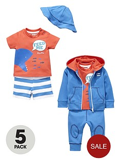 ladybird-baby-boys-shark-set-5-pack