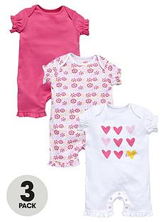 ladybird-baby-girls-frill-detail-rompers-3-pack