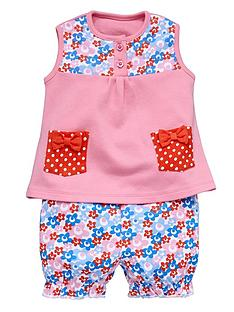 ladybird-baby-girls-floral-spot-vest-and-shorts-set-2-piece