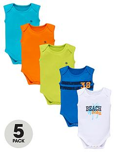 ladybird-baby-boys-bright-bodysuits-5-pack