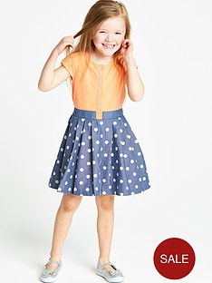 ladybird-girls-spotty-denim-jersey-dress