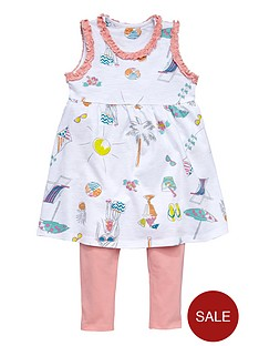 ladybird-girls-jersey-holiday-print-dress-and-cropped-legging-set-2-piece