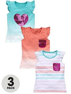 ladybird-girls-dip-dye-and-stripe-tops-3-pack