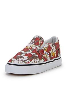 vans-classic-slip-on-disney-belle-toddler-plimsolls
