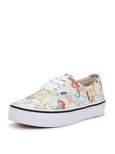 vans-authentic-disney-ariel-junior-plimsolls