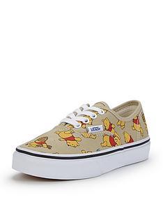 vans-authentic-disney-winnie-the-pooh-junior-plimsolls