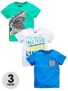 ladybird-boys-shark-and-surf-t-shirts-3-pack