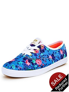 oasis-keds-floral-print-lace-up-shoes