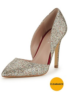 carvela-lexi-glitter-two-part-court-shoes