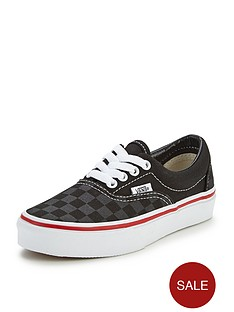 vans-era-check-junior-plimsolls