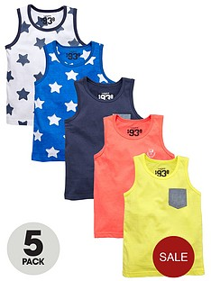 ladybird-boys-mixed-vests-5-pack