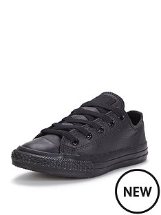 converse-charles-taylor-all-star-mono-leather-ox-junior-trainers