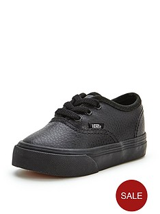vans-authentic-leather-mono-toddler-plimsolls