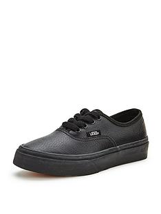 vans-authentic-leather-mono-junior-plimsolls