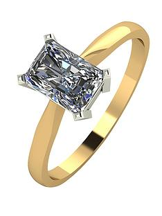 moissanite-9-carat-yellow-gold-11-carat-radiant-cut-solitaire-ring