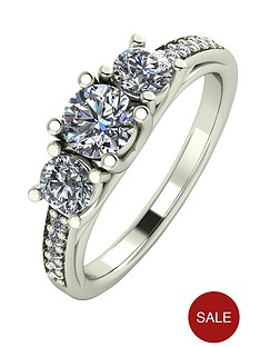 moissanite-premium-collection-9-carat-white-gold-110-carat-round-brilliant-cut-trilogy-ring-with-moissanite-set-shoulders