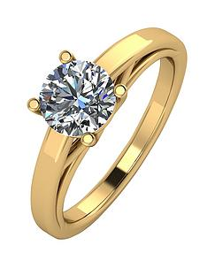 moissanite-premium-collection-9-carat-yellow-gold-1-carat-round-brilliant-cut-solitaire-ring