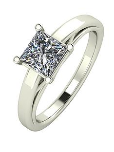 moissanite-premium-collection-9-carat-white-gold-105-carat-princess-cut-solitaire-ring