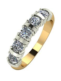 moissanite-9-carat-yellow-gold-1-carat-moissanite-bar-set-5-stone-eternity-ring