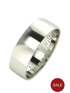 love-gold-personalised-9-carat-white-gold-court-wedding-band-6-mm