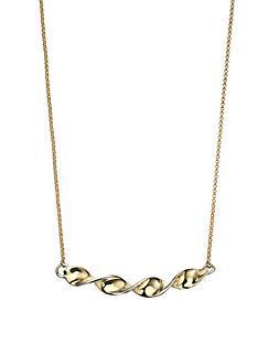 elements-9-carat-2-colour-gold-twist-bar-necklace