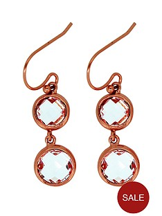 the-love-silver-collection-rose-gold-plated-silver-cubic-zirconia-earrings