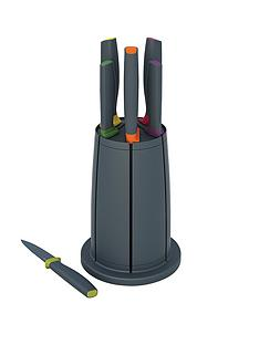 joseph-joseph-elevate-knives-carousel-set-6-piece-knife-set-with-rotating-knife-block