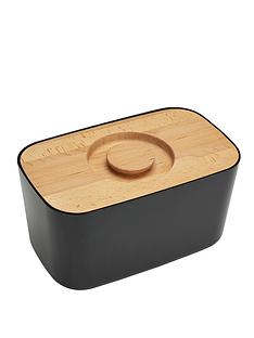 joseph-joseph-melamine-bread-bin-with-beech-wood-lid-black