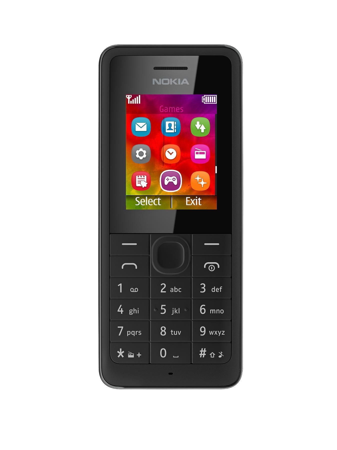 106 Mobile Phone - Black, Black at Littlewoods