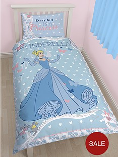 disney-cinderella-panel-single-duvet-cover-set