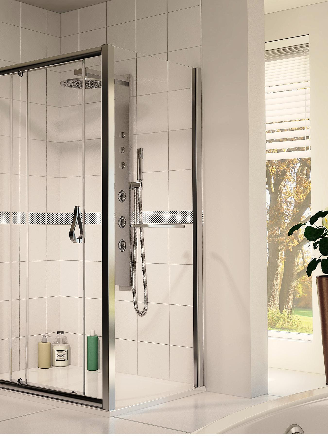 Aqua 6 Side Shower Panel  1900 x 800mm