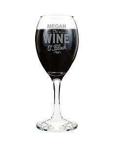 personalised-wine-oclock-wine-glass
